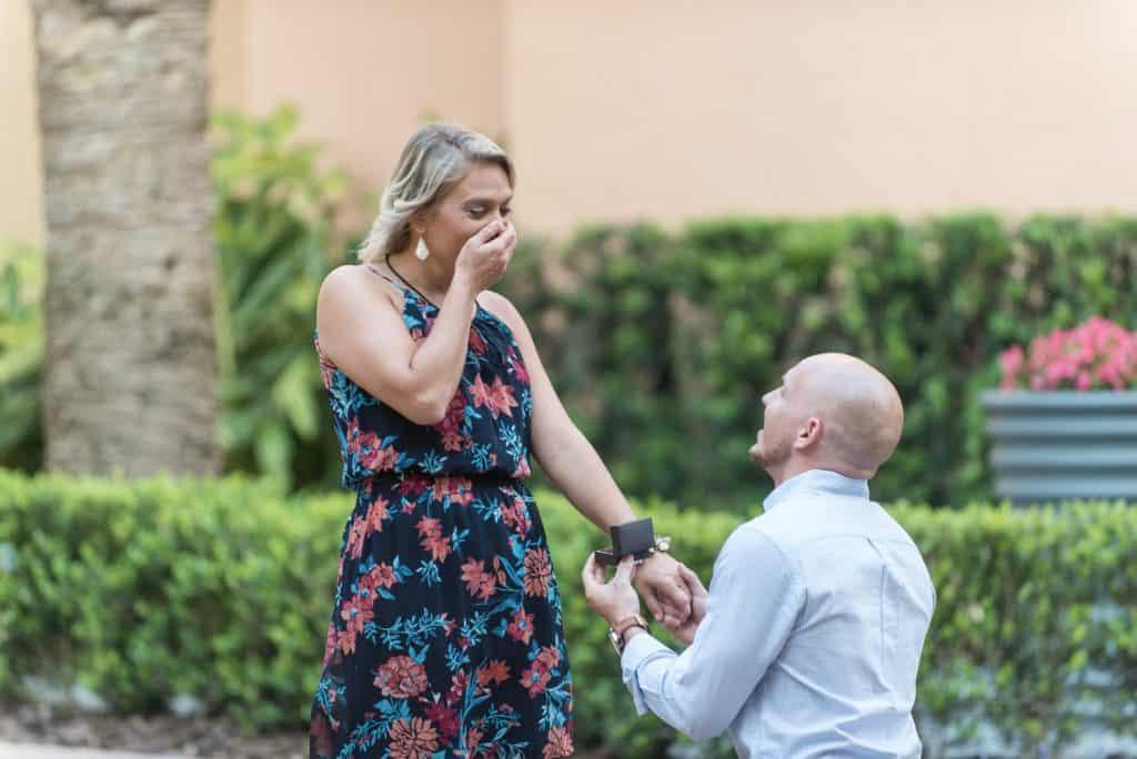 Surprise Proposal at the Hilton Bonnet Creek Hotel